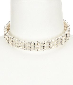 Cezanne Regal Pearl Multi-Row Choker Necklace