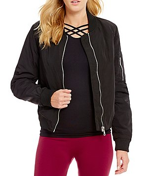 Fornia Water Resistant Zip-Front Bomber Jacket
