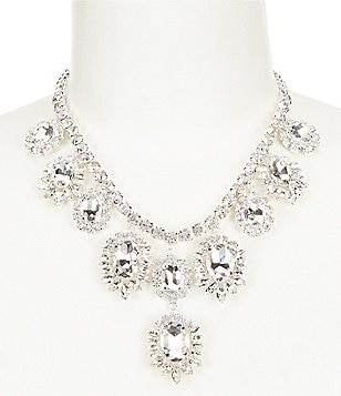 Cezanne Rhinestone Sofia Medallion Drops Statement Necklace
