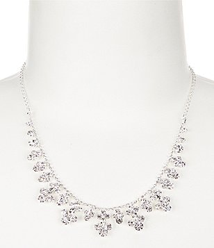 Cezanne Rhinestone Princess Drops Collar Necklace