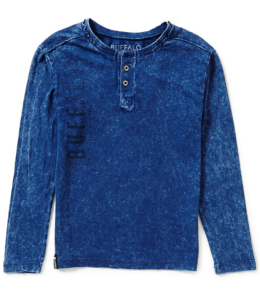 Buffalo David Bitton Big Boys 8-20 Nebula Long-Sleeve Henley Shirt