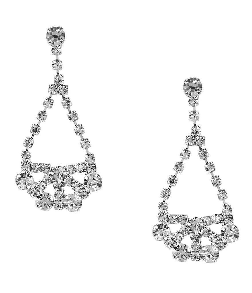 Cezanne Rhinestone Swing Drop Earrings