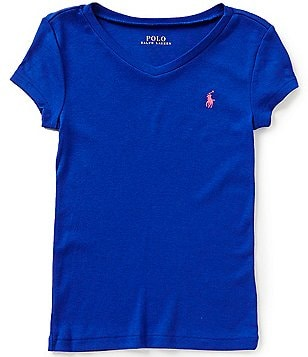 Ralph Lauren Childrenswear Big Girls 7-16 Short-Sleeve V-Neck Tee