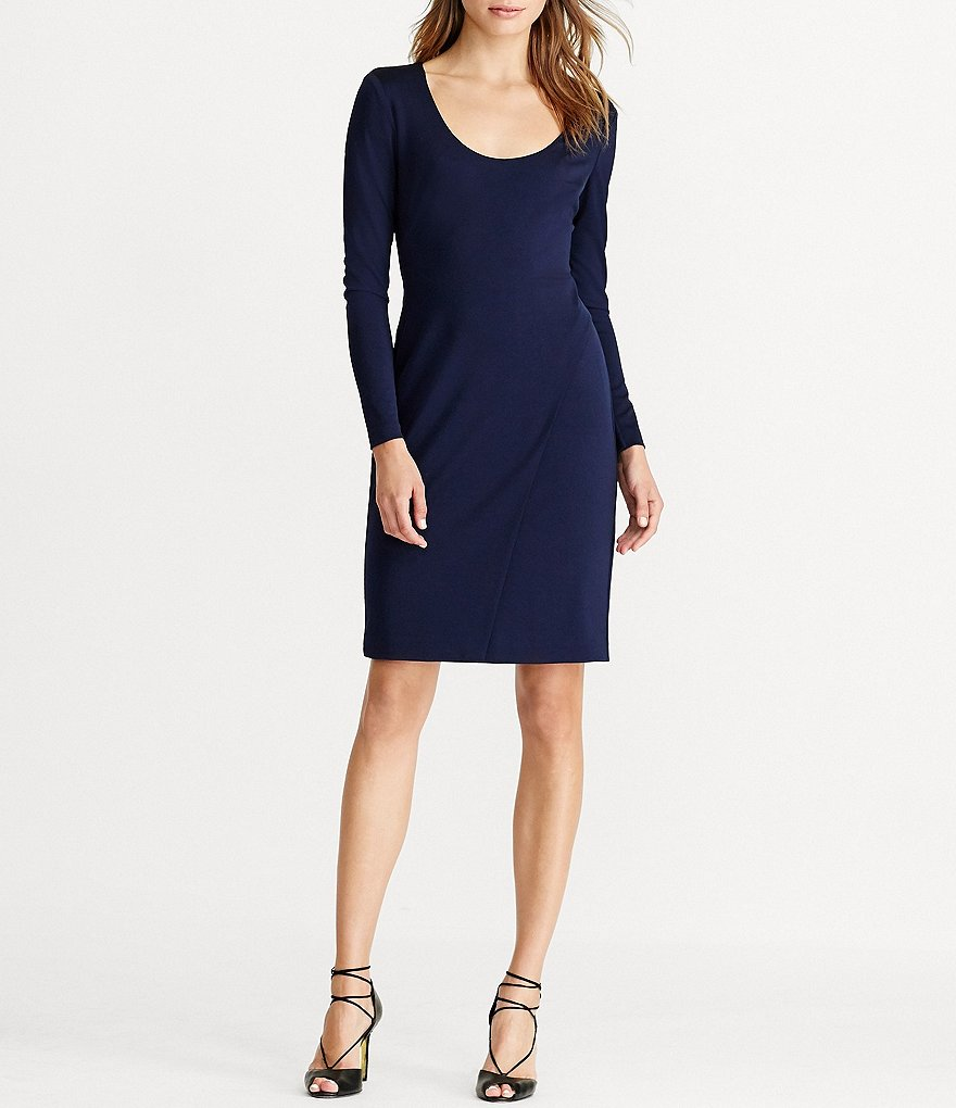 Lauren Ralph Lauren Jersey Scoop Neck Dress