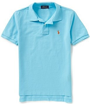 Ralph Lauren Childrenswear Big Boys 8-20 Solid Short-Sleeve Mesh Polo Shirt