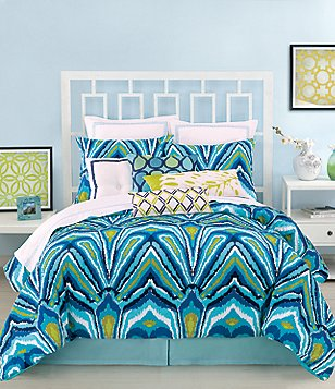 Trina Turk Blue Peacock Comforter Mini Set