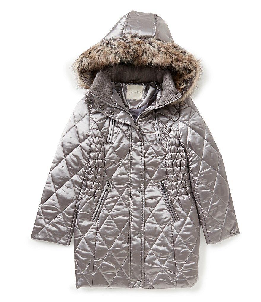 Copper Key Big Girl´s 7-16 Faux-Fur Hooded Quilted Coat