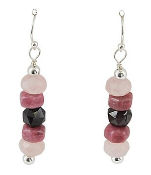 Barse Sterling Silver & Rose Quartz Stone Drop Earrings