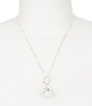 Barse Sterling Silver & Howlite Pendant Necklace