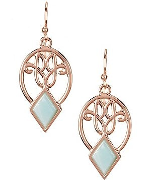 Calvary Signature J Scroll Earrings