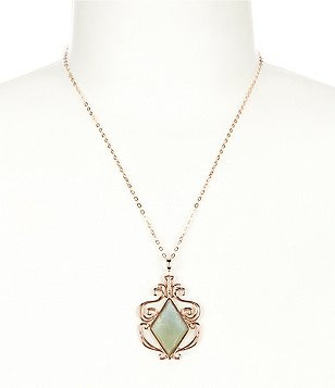 Calvary Signature J Scroll Pendant Necklace