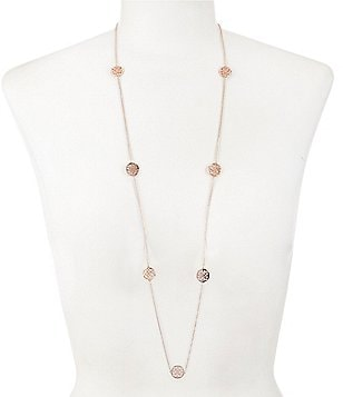 Calvary J Scroll Station Necklace