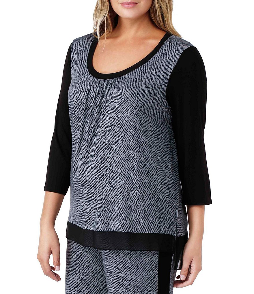 DKNY Plus Jersey Sleep Top