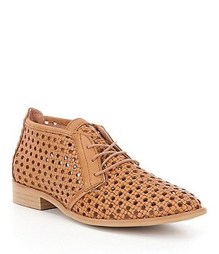 Coolway Aileen Perforated Leather Lace-Up Oxfords
