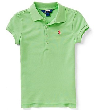 Ralph Lauren Childrenswear Little Girls 2T-6X Solid Mesh Polo Shirt