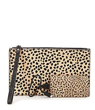 Aimee Kestenberg Cheetah-Print Haircalf Pouch with Charger
