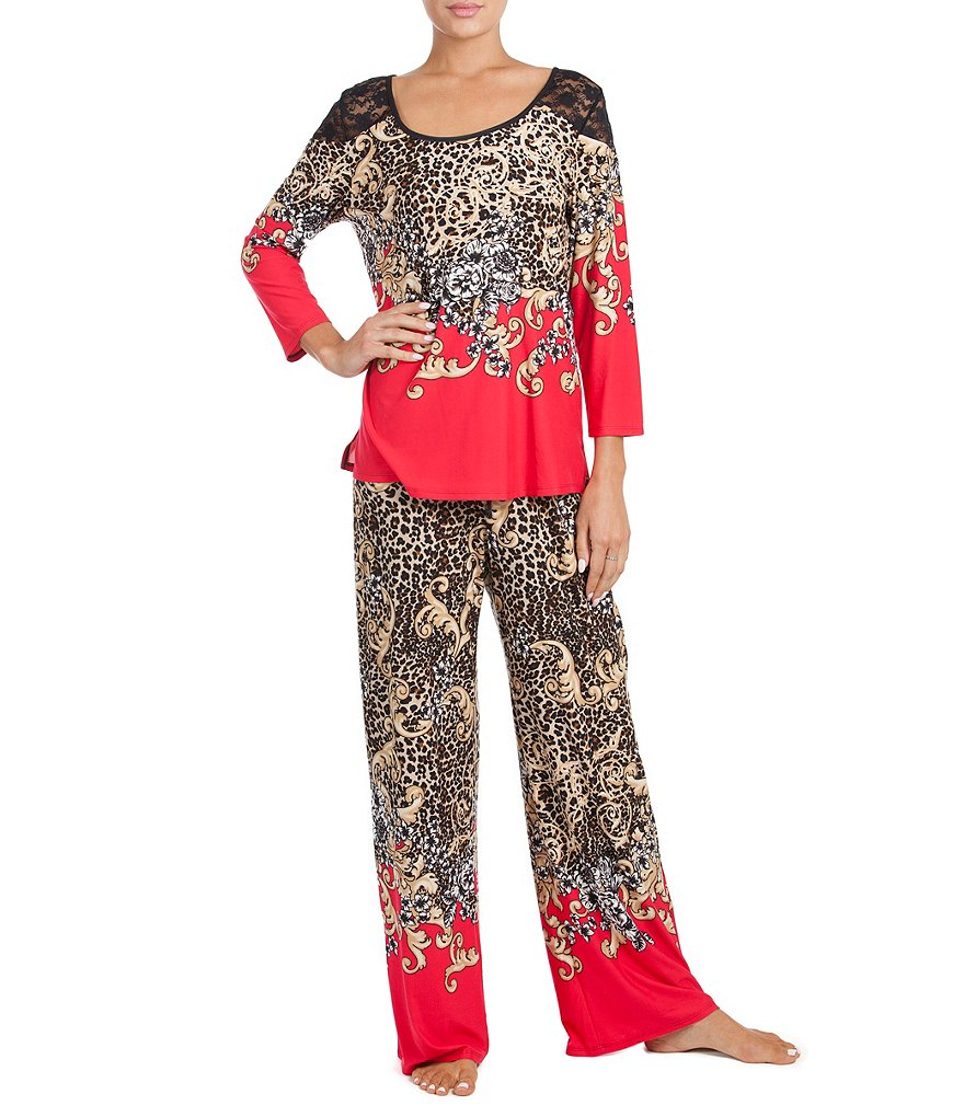 In Bloom by Jonquil Animal-Print Jersey Pajamas