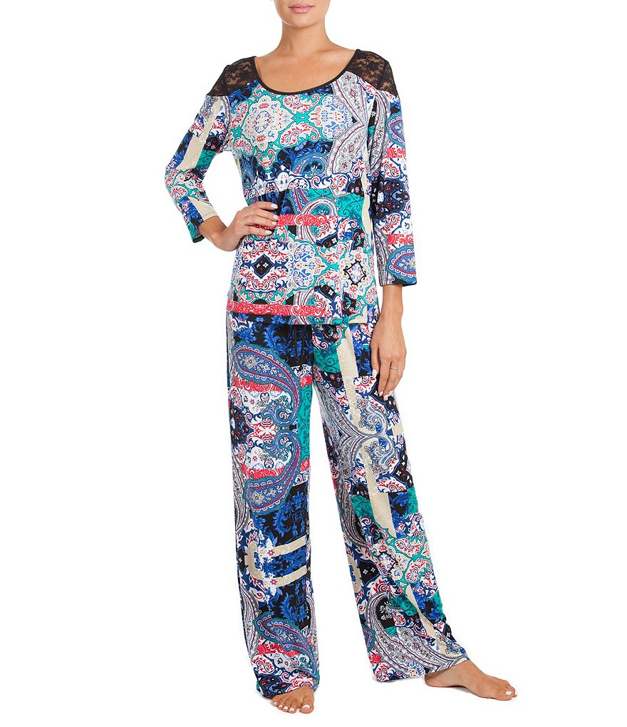 In Bloom by Jonquil Paisley Jersey Pajamas