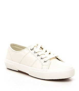 Lauren Ralph Lauren Jolie Leather Lace-Up Flat Sneakers