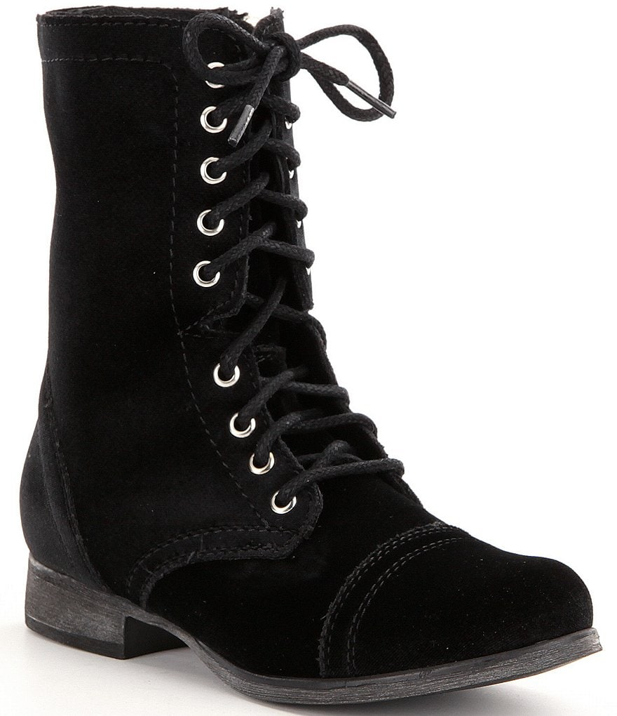 Steve Madden Troopa Velvet Lace Up Boots