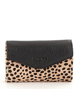 Aimee Kestenberg Cheetah-Print Haircalf Jewelry Pouch