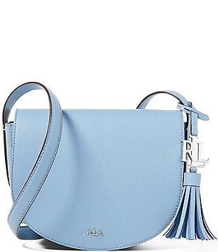 Lauren Ralph Lauren Dryden Collection Mini Caley Tasseled Saddle Bag