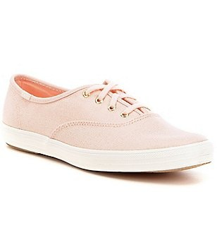 Keds Champion Metallic Twill Lace Up Sneakers