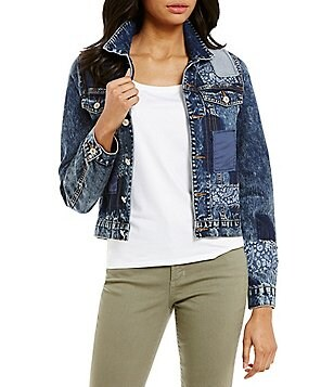 Paris Hues Patched Denim Jacket