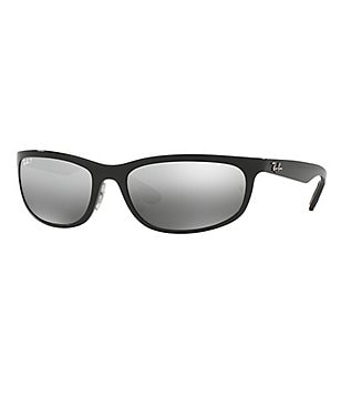Ray-Ban Chromance Polarized Mirrored Gradient Wrap Sunglasses