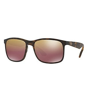 Ray-Ban Chromance Mirrored Square Sunglasses