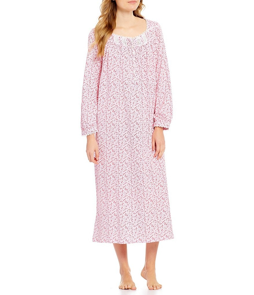 Eileen West Floral Jersey Ballet Nightgown
