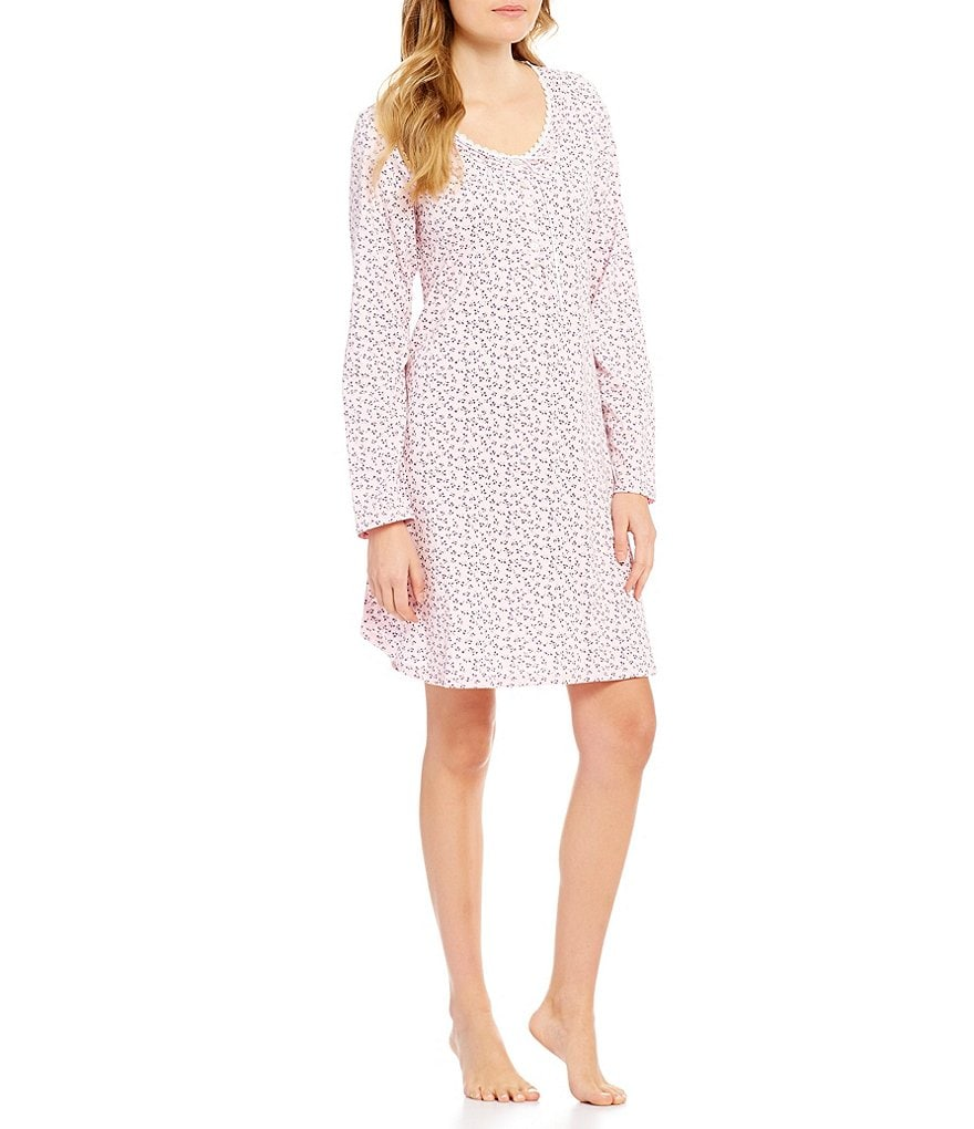 Eileen West Floral Jersey Nightgown