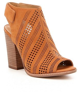GB Squared-Away Perforated Peep Toe Booties