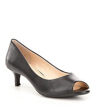 Alex Marie Larra Peep-Toe Kitten-Heel Pumps