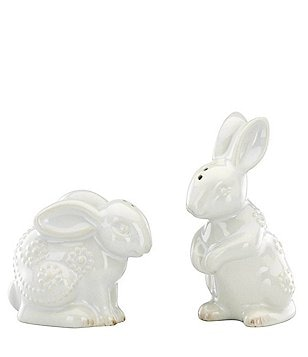 Lenox French Perle Rabbit Salt & Pepper Shakers