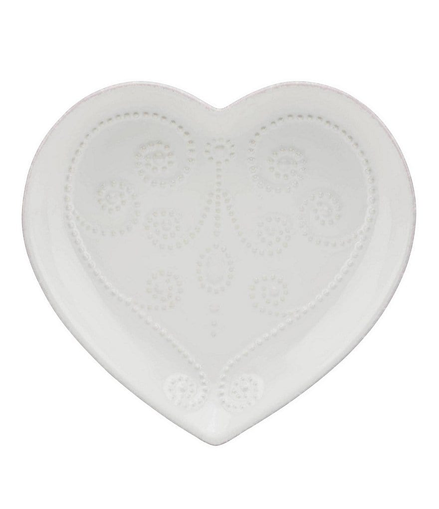 Lenox French Perle Scalloped Stoneware Heart Dish