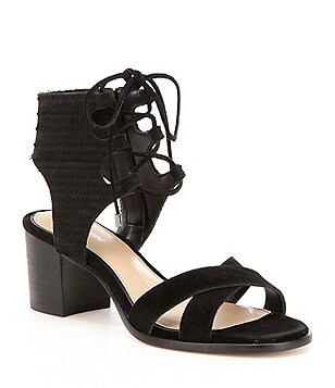 Gianni Bini Kolemann Lace-Up Block-Heel Sandals