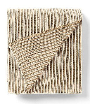 Aman Imports Devin Braided Striped Cotton Throw