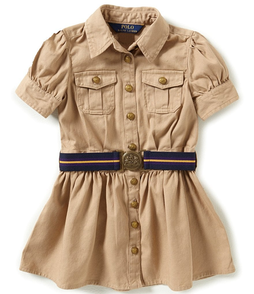 Ralph Lauren Childrenswear Little Girls 2T-6X Button-Front Belted Shirt Dress