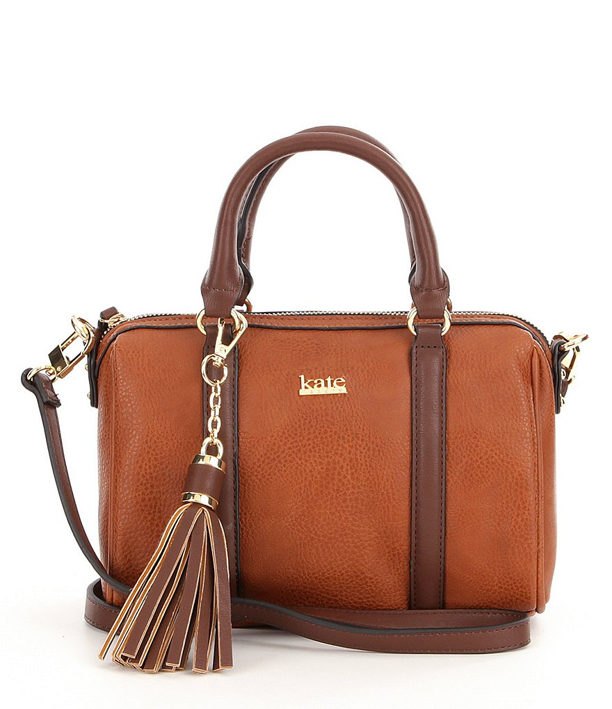 Kate Landry Tasseled Trapunto Satchel