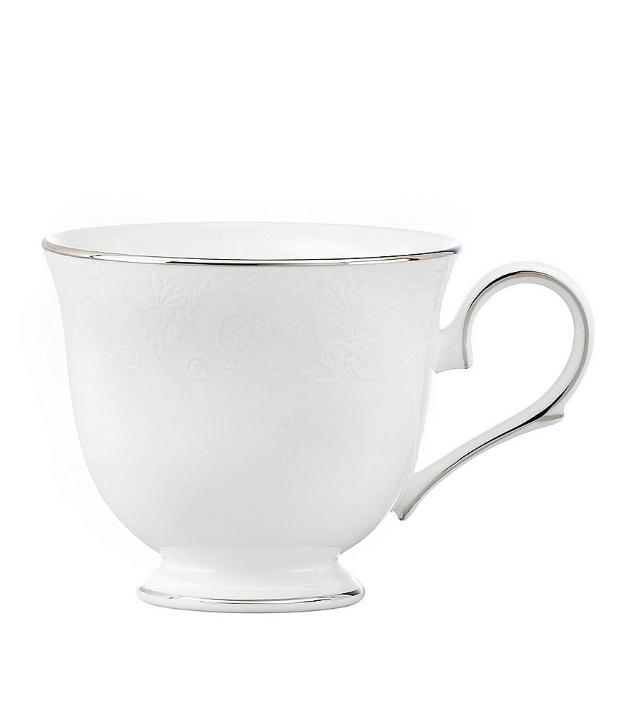 Lenox Artemis Floral Platinum Bone China Cup