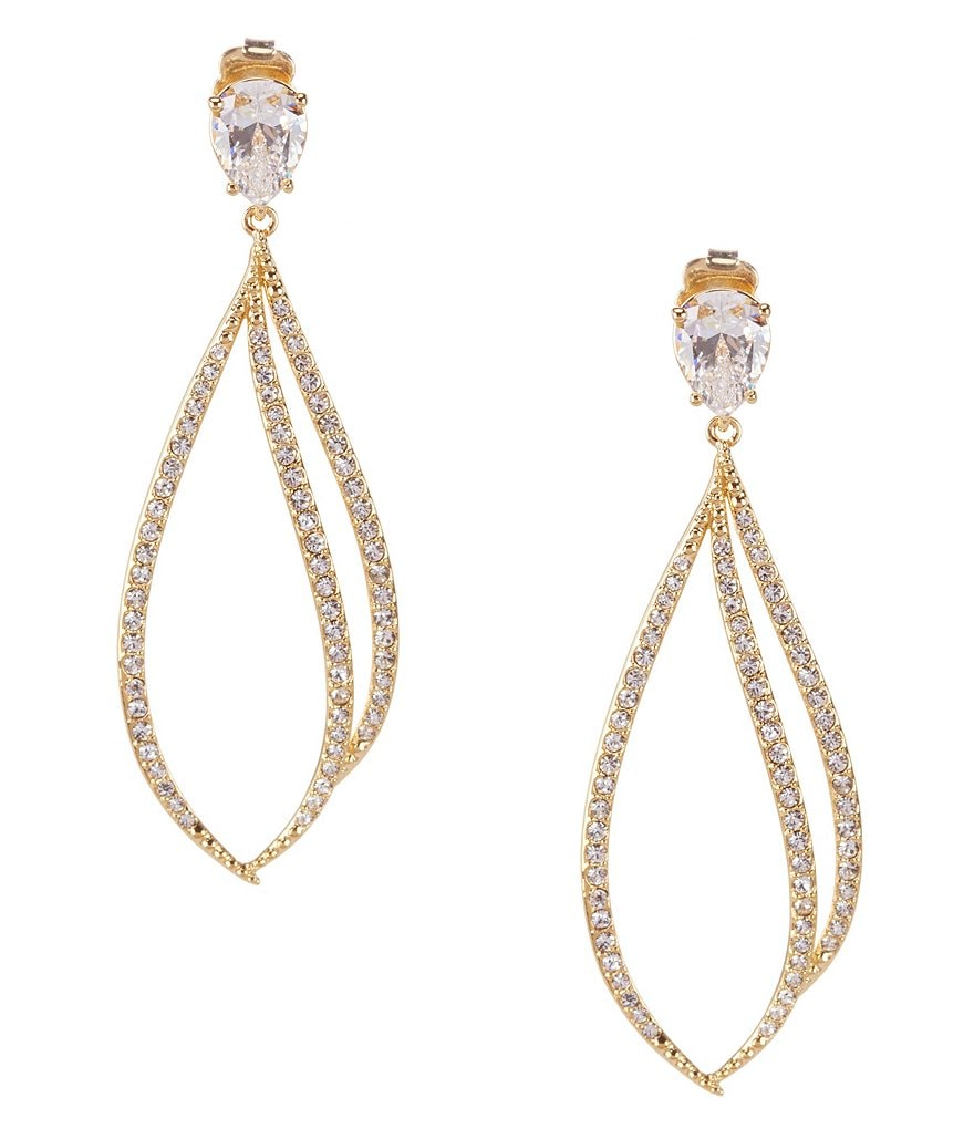 Nadri Cordelia Cubic Zirconia Pavé Drop Earrings
