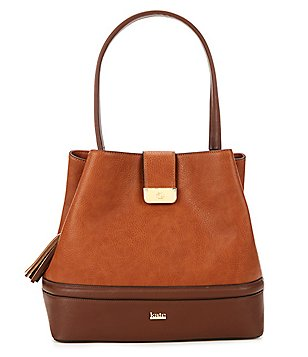 Kate Landry Tassel Trapunto Hobo Bucket Bag