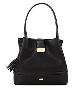 Kate Landry Tasseled Trapunto Hobo Bucket Bag