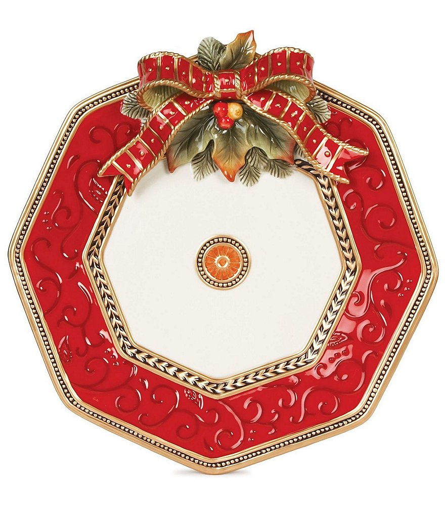 Fitz and Floyd Damask Holiday Platter