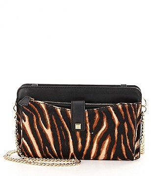 Antonio Melani City Zebra-Print Haircalf Cross-Body Bag