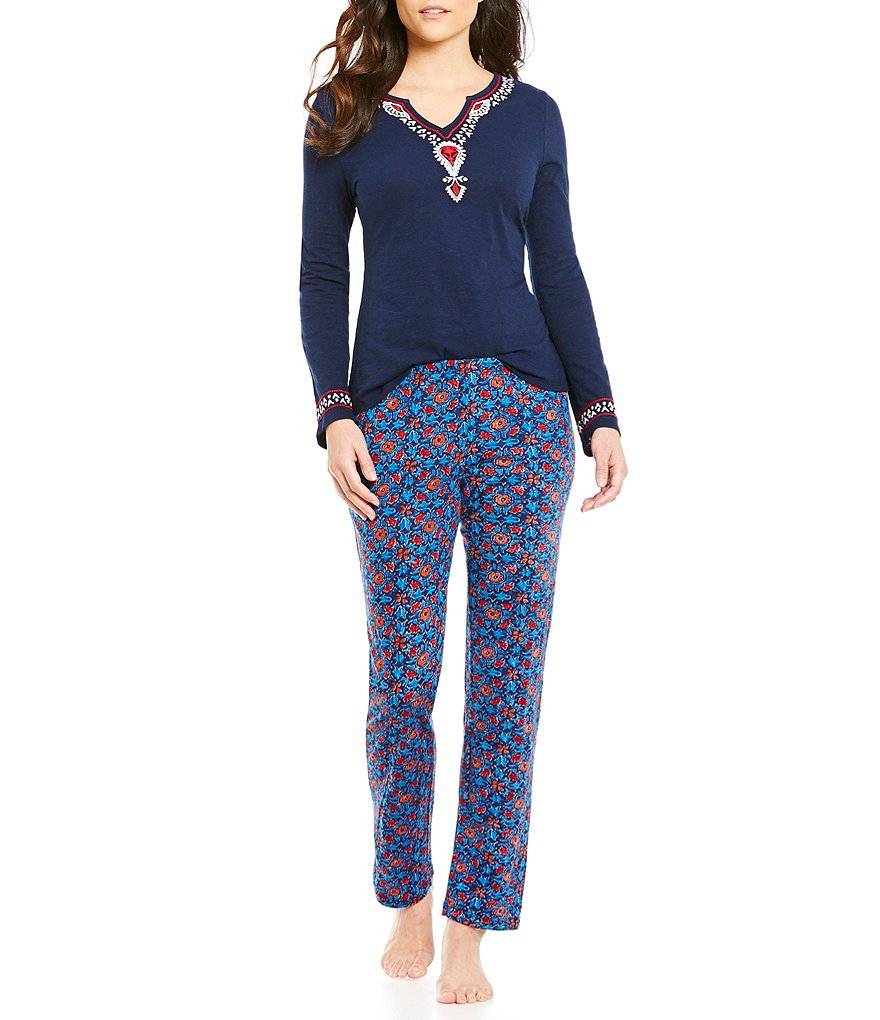 Lucky Brand Floral Bordered Pajamas