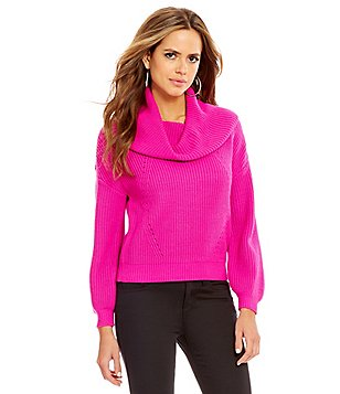 Gianni Bini Jenna Cowl Neck Knit Sweater