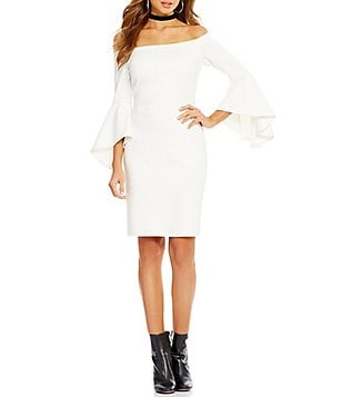 add1f5212bb Dillards Wedding Dress. gianni bini tammy off the shoulder bell sleeve dress