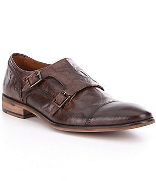 Steve Madden Men´s Agendas Monk Strap Leather Dress Shoes